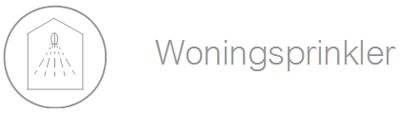 Woningsprinkler icoon